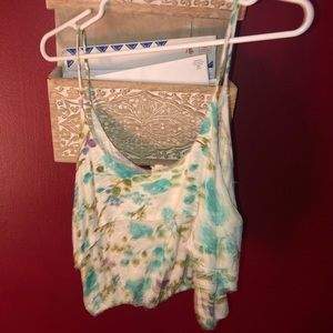 Cropped Flowy tank top